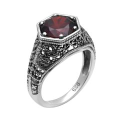 Szjinao New Promotional Boutique Jewelry Victoria Red Cubic Zirconia 925 Sterling Silver Ring Wedding Rings for Women