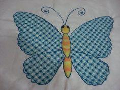 Bordado Fantasía Mariposa Terminada