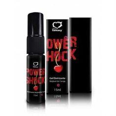 Power Shock Eletrizante Beijável Cereja Spray 15ml