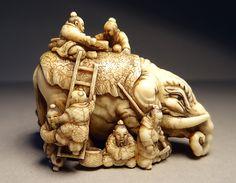 Netsuke: Big Elephant (Ikkô)