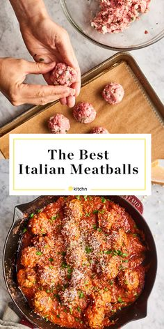 The Only Italian Meatball Recipe You'll Ever NeedYou can find Italian recipes and more on our website.The Only Italian Meatball Recipe You'll Ever Need Meatball Recipes, Beef Recipes, Cooking Recipes, Tasty Food Recipes, Best Italian Meatball Recipe, Sausage Recipes, Beef And Pork Meatballs, Jelly Meatballs, Gourmet