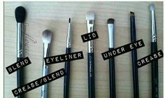 Which brushes to use for eye makeup application