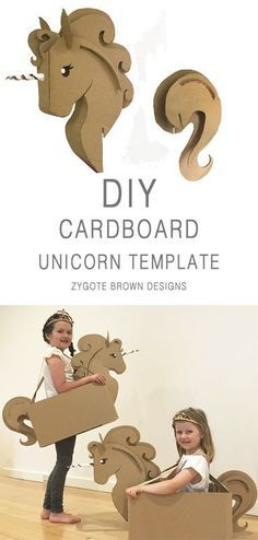 DIY cardboard unicorn costume TEMPLATE by Zygote Brown DesignsDIY Cardboard Unicorn Costume TEMPLATE by Zygote Brown Designs, Brown Designs DIY Unicorn Cardboard 30 funny carnival costumes for kids. Make ideas that will blow your mindCostumes Cardboard Costume, Diy Cardboard, Unicorn Birthday Parties, Unicorn Party, Diy Unicorn Costume, Halloween Unicorn, Scary Halloween, Carton Diy, Diy Karton
