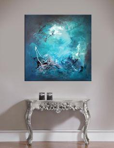 #abstractart #painting #tealart  #springcollection Reflections art by Paresh Nrshinga www.artnrshinga.com