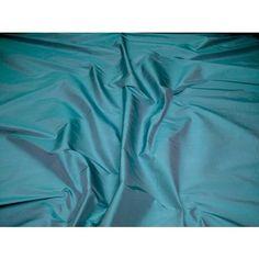 Malabar Siam Silk Curtain Fabric - Aqua 54 - The Millshop Online