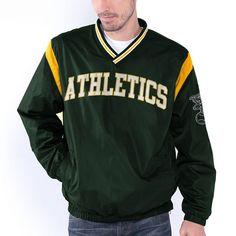 Oakland Athletics Wild Pitch V-Neck Pullover Jacket - Green