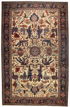 Persian Heriz Serapi rug, late 19th c