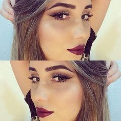 Wish I knew what color her lipstick was? It's gorgeous :) I wanntiitt!! Plus her makeup makes it POP!