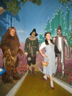 Scarecrow, Dorothy, Cowardly Lion, and Tin Man. From The Wizard of Oz. Hollywood Wax Museum - Branson, Missouri