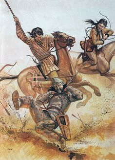Guerreros sármatas, siglo V a.C. Más en www.elgrancapitan.org/foro