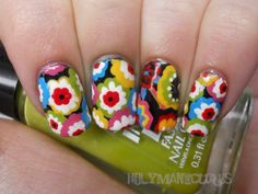 Holy Manicures: Symphony in Hue Nails. Love this look.may do to one nail for an accent...