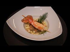 Tartare de langoustine, jus de pommes, langoustine mi-cuite par Xavier M...