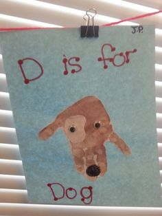 Dog hand print, letter d .dalmatian during fire safety week - using to go along with One is a Snail, Ten is a Crab