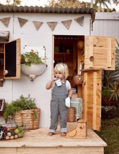 Castle & Cubby enliven an unused corner of the Adamo family's garden in Bangalow, NSW! Playground Design, Backyard Playground, Backyard For Kids, Children Playground, Backyard Games, Outdoor Games, Kids Play Spaces, Outdoor Play Spaces, Play Areas