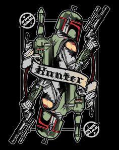 Hunter T-Shirt $10 Boba Fett tee at ShirtPunch today only!