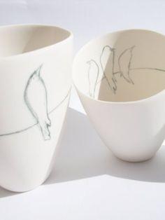 Miss Smart: Birds - Series Underglaze Pencil Ceramic Birds, Ceramic Clay, Ceramic Painting, Ceramic Pottery, Ceramic Techniques, Pottery Techniques, Pottery Tools, Pottery Classes, Earthenware