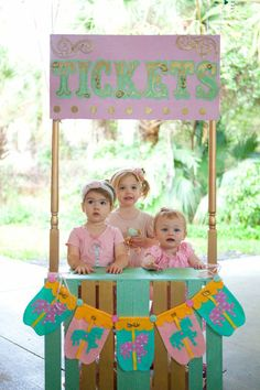 Cupcakes and Carousels 2nd Birthday Party Via Karas Party Ideas KarasPartyIdeas.com