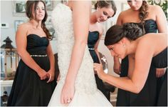 Black & White Winter Wedding by Christina Forbes Photography