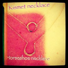Order our Horseshoe Necklace for your special someone today! #horseshoe #swag #valentinesday