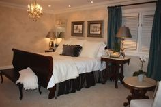 Comfort Master Bedroom Ideas with Queen Size Bed Picture
