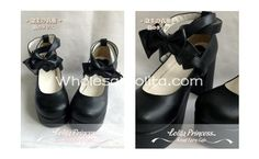 Alice Series Pure Black Bow Chunky Heel Cross Ankle Straps Princess Lolita Shoes | Know more >> http://www.wholesalelolita.com/alice-series-pure-white-bow-chunky-heel-cross-ankle-straps-princess-lolita-shoes-p-14333.html