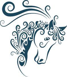 Vinilo decorativo caballo abstracto