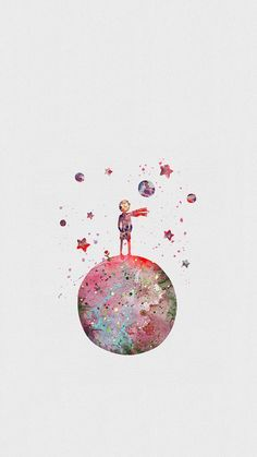 Little prince/ wallpaper and background resmi - wallpapers, Hintergrund - Art And Illustration, The Little Prince, Cute Wallpapers, Wallpapers Android, Art Inspo, Painting & Drawing, Amazing Art, Watercolor Paintings, Cool Art