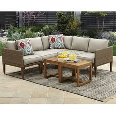Free 2-day shipping. Buy Better Homes & Gardens Davenport 7-Piece Woven Outdoor Sectional Set at Walmart.com