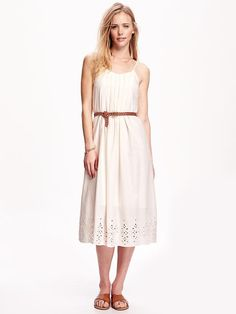Eyelet Slip Dress for Women, I love this but I must be able to wear a good bra.