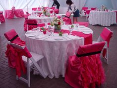 Pink Chair Cover Ideas