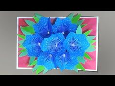Mother's Day Greeting Card with POP UP FLOWERS - DIY Ideas by Fantasvale - YouTube