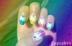 Cupcake Nails! (Pickled Kabbage)