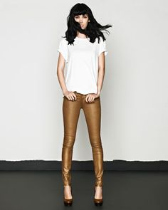 Rich and Skinny Legacy metallic jeans.