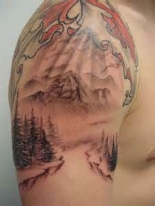 Mountain Tattoo...love the pines