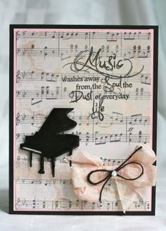 Created by Ally using My Craft Spot Music stamp set.