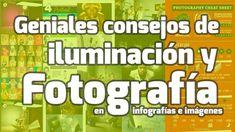 Geniales consejos de iluminación y fotografía Portrait Photography Lighting, Light Photography, Image Photography, Photography Cheat Sheets, Photography Lessons, Lighting Setups, Photo Lighting, Exposure Lights, Blog Fotografia