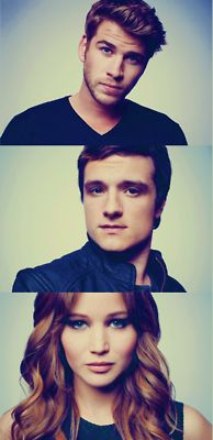 The Hunger Games: Liam Hemsworth as Gale Hawthorne, Josh Hutcherson as Peeta Mellark & Jennifer Lawrence as Katniss Everdeen The Hunger Games, Hunger Games Catching Fire, Hunger Games Trilogy, Josh Hutcherson, Katniss Everdeen, Juegos Del Ambre, Harry Porter, Tribute Von Panem, Monsieur Madame