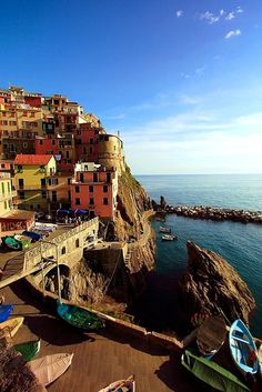 (via Mediterranean Fishing Village, a photo from La Spezia, Liguria | TrekEarth)  Manarola, Liguria, Italy