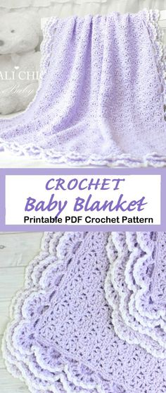 afghan patterns Looking for new crochet baby blanket patterns to try? There are lots of different crochet blanket patterns to try, perfect for a boy or girl. Crochet Baby Blanket Free Pattern, Baby Afghan Crochet, Crochet Bebe, Crocheted Baby Blankets, Crochet Throws, Kids Crochet, Double Crochet, Easy Crochet, Crochet Hats