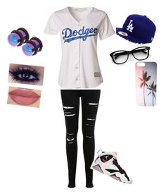 """""""dodgers"""" by heyitzangela on Polyvore featuring Miss Selfridge, Majestic, Retrò and Carolina Glamour Collection"""