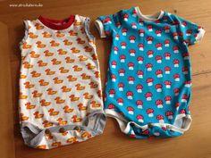 Einfach Anleitung zum Babybodys nähen - für Anfänger geeignet. Süßes Geschenk zur Geburt