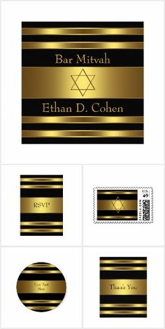 Black Gold Bar Mitzvah