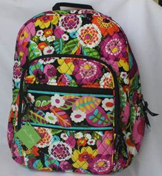 Just got this Vera Bradley Campus Backpack in an on-sale print, Dogwood. Love it.