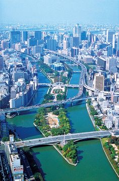 大阪 中之島 Osaka Japan scenery building