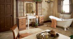 Towne | Sundance, Maple Custom Bathroom Cabinets, Bathroom Sink Vanity, Bath Vanities, Guest Bathrooms, Modern Bathroom, Kitchen And Bath Design, Unique Home Decor, Mid Continent, Cherry