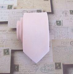 Pink Tie. Skinny Tie  Pale Pink Skinny Necktie With by TieObsessed