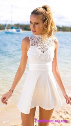 Homecoming Dress,white prom dress,short prom dresses,homecoming dresses,modest homecoming dress,short prom gowns 2018 MT20186486