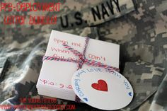 """Carry My Love With You"" pre-deployment note bundle to send with your spouse! Open me when you need a laugh! Open me when you can't fall asleep! Open me when you miss your wife!"