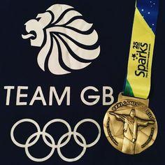 A Gold Rush Virtual Race medal, posing with a Team GB logo. Team Gb, Gold Rush, Logo, Racing, Logos, Auto Racing, Environmental Print