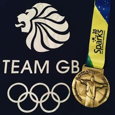 A Gold Rush Virtual Race medal, posing with a Team GB logo.